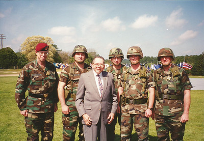 Col Bruce C Phenix Jr  honored as first CO of 84th Chemical Company  (Ceremony held Ft Polk 1993?)