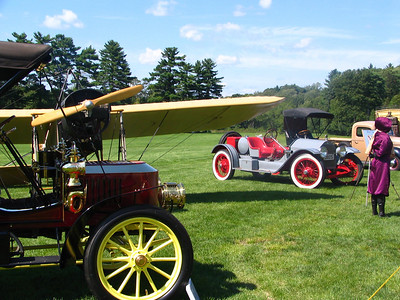 1906 Stanley Steamer Touring Car, Bleriot Type XI Flying Machine, 1914 Stutz Bearcat