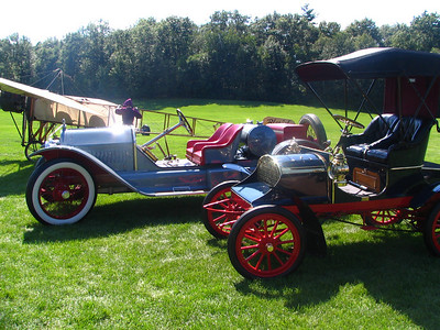 1914 Stutz Bearcat and 1905 Franklin Type A Roadster