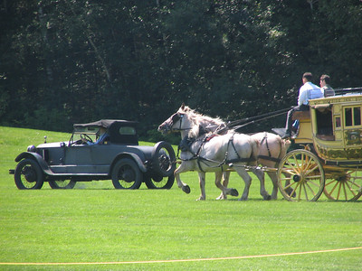 Race 2 - Stagecoach and Horse Team vs. 1908 Stanley Steamer Model F (winner)