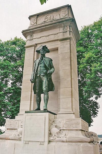 Monument to Colonial naval hero John Paul Jones.