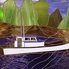 Tisha Lee in Stained Glass  Built 1957 Columbia Boat  Vern Forsberg