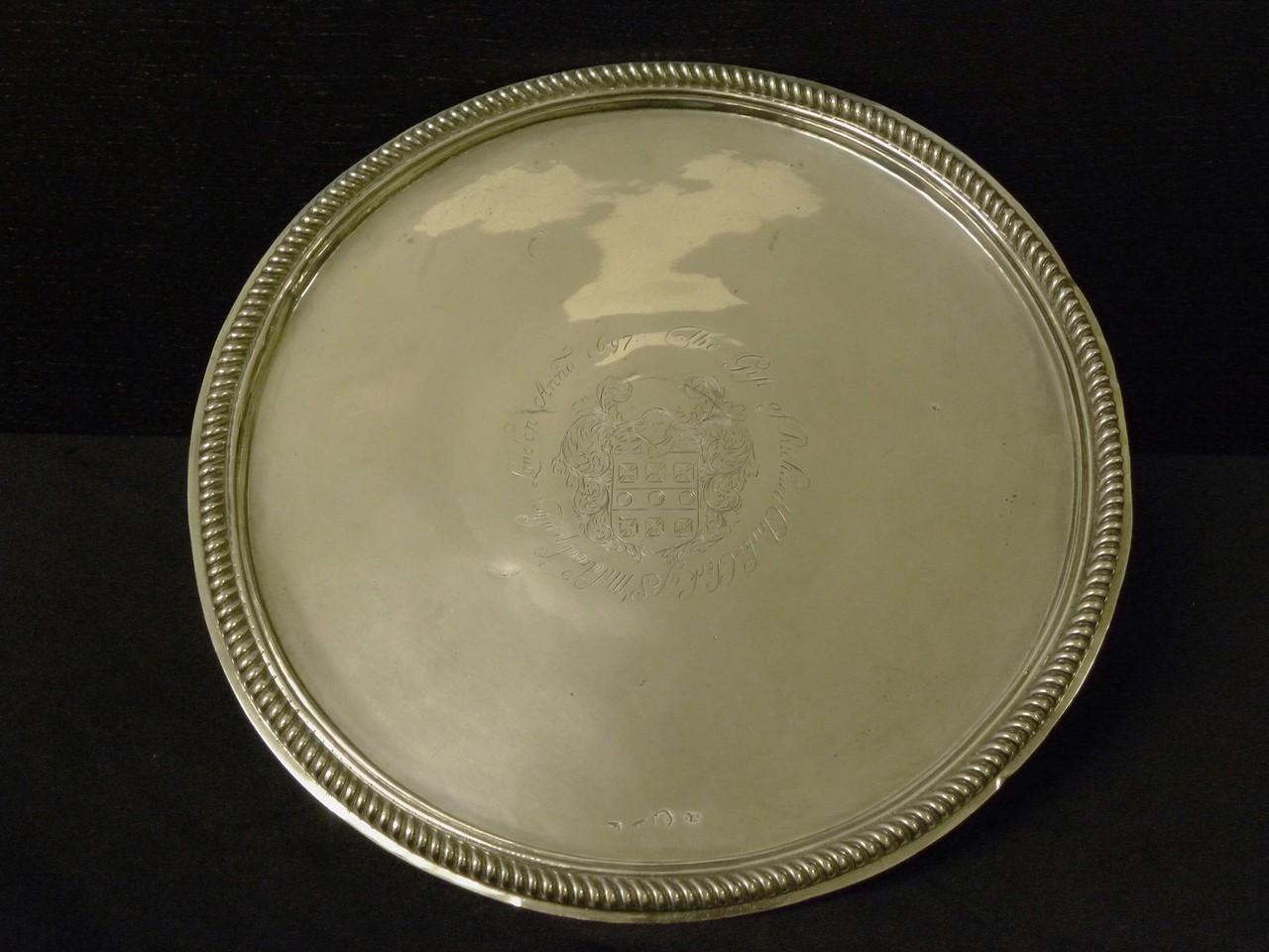 1 Salver 1681 gift of Richard Clarke 1697
