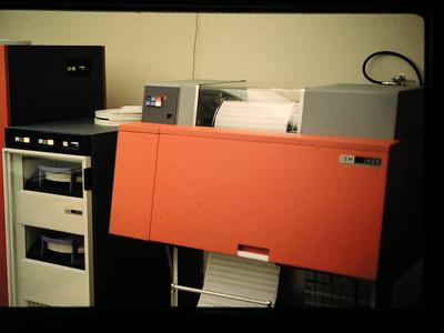 IBM 1403 printer.
