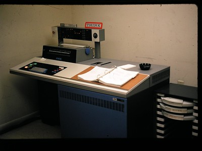 IBM 1130 computer console.