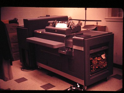 IBM 402 Accounting Machine Notice the programmable board on the front side of the machine.