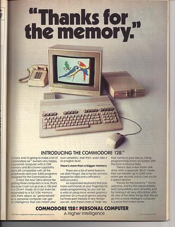 Commodore 128 computer