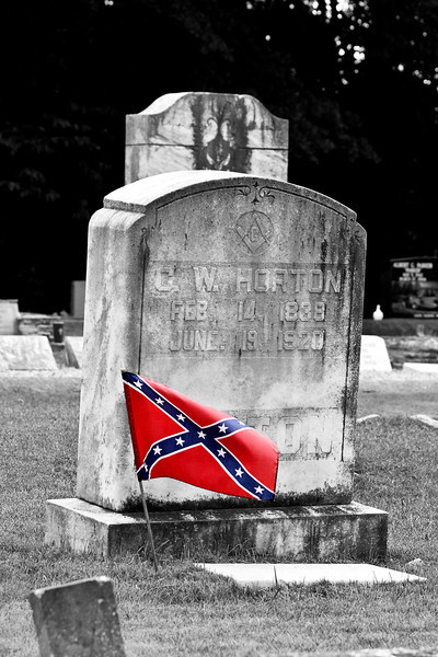 Confederate graves in Fayette County.