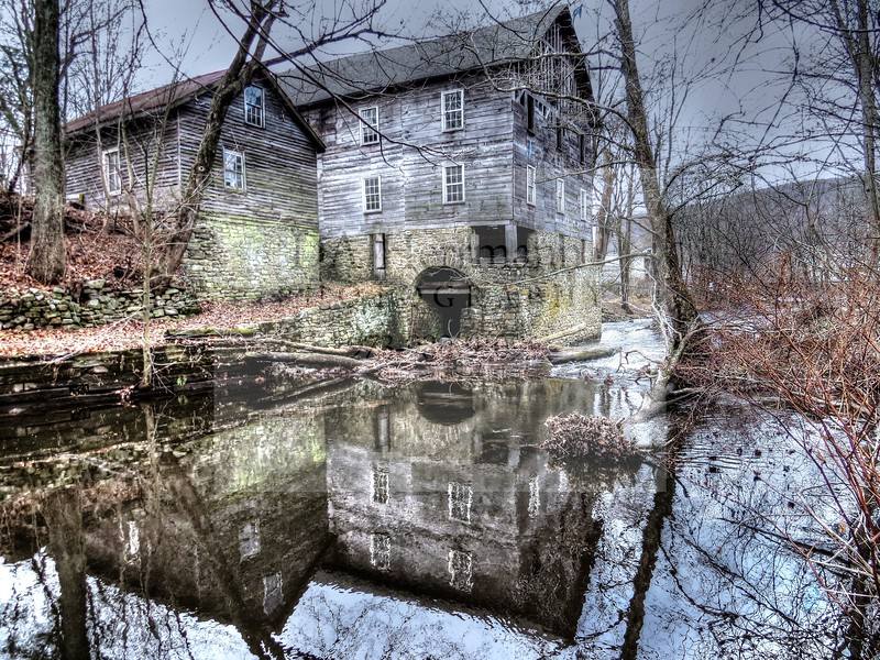 Obadiah LaTourette Grist and Saw Mill c. 1750<br /> MY NEW JERSEY
