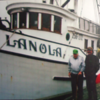 Lanola  Standing Left  Builder and First Owner Milton Anderson  Right Frank Akers   Boat Built 1948  Still Fishing 2017