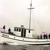 Winga  Built 1939  Coos Bay Boat Yard  Builder  Abe Elfving  Owner G A Hunter  Sea Trials  Jonke Elfving Stern
