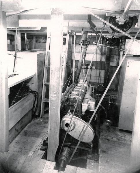 Winga  Engine Room  Cummins Diesel  Coos Bay Boat Yard  Builder Abe Elfving
