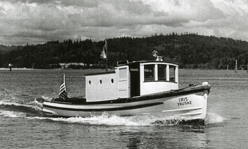 Iris  Built 1940 By Abe Elfving  Coos Bay Boat Yard  Operator  Chester Adamson