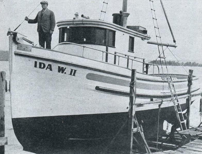 Ida W II,Launching,Built 1946 Columbia Boat Astoria,Kris Wuori,Gearhart Wuori,