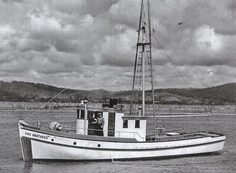 Five Brothers  Sea Trials  Coos Bay  1938  Arthur Graham  Builder Abe Elfving