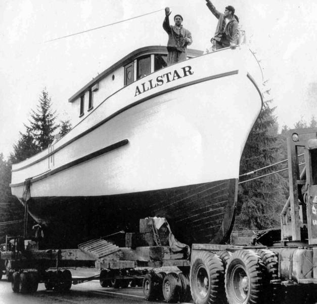 1964,Allstar,Troller Launching,Built Ed Martin Tacoma,Duke Martin,