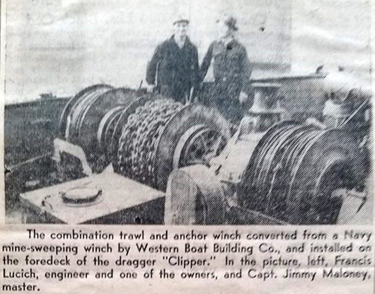 Clipper  Western Boat  Building   Martin Petrich  Francis Lucich  Jimmy Maloney