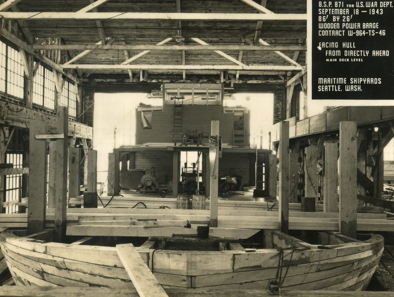 B S P 871 Maritime Shipyard Seattle  1943 Power Scow