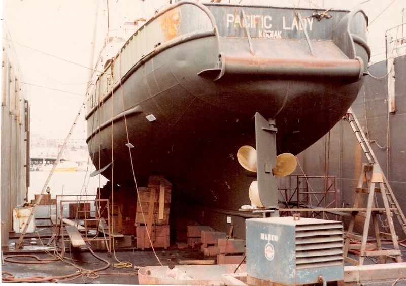 Pacific Lady  Marco Drydock Seattle Ole Harder  Vessel Lost 1985