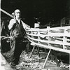 Abe Elfving Boat Builder   1938 Coos Bay Boat Shop  Building Picnic Launch
