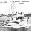 1963 Sea Trials,Mary_D,Ms Sadie,Julie Ann,Builder Pacific_Fisherman_Robert_Duncan_Delbert_Kadake,Daniel Marsden,Matt Munkres,Seattle,