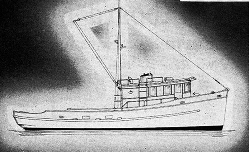 Edwin Monk Troller Design Seattle  50ft Troller  Longline  West Coast