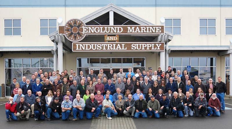 Englund  Marine  Group Photo Taken Astoria