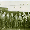 Tug Norski  Builder Abe Elving Left  Far Right Karl Elfving Coos Bay Boat Building Crew Second from Right Trygve Nordahl Norski Owner