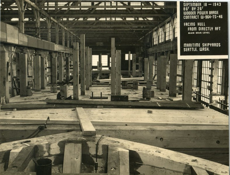 B S P 872 Maritme Shipyard 1943 Seattle Power Scow