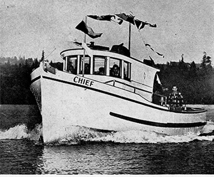 Chief  Built Bremerton  1949  F  Vella  Edwin Monk and Lorne arden Design 38ftx 11 4x 6 8