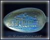 Dolson spoon with an etched image of the Charlotte (Carnegie grant) public library, circa early 1900's.