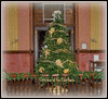 Christmas tree on the second level of the 1885 courthouse... and yes the roof was fixed two years ago... snow added ;-)