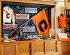This display is part of the Points of Pride exhibit, now showing at the 1885 courthouse museum.<br /> This display of CHS / Orioles memorabilia is one of several high schools in Eaton County that are represented.