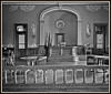 "Black and white processed image of the courtroom... My research indicates that ""only"" black and white ""film"" (scanned to digital) is acceptable as true ""historic photographic"" documentation."