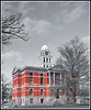 The historic 1885 Eaton County Courthouse in the center square, Charlotte, MI.