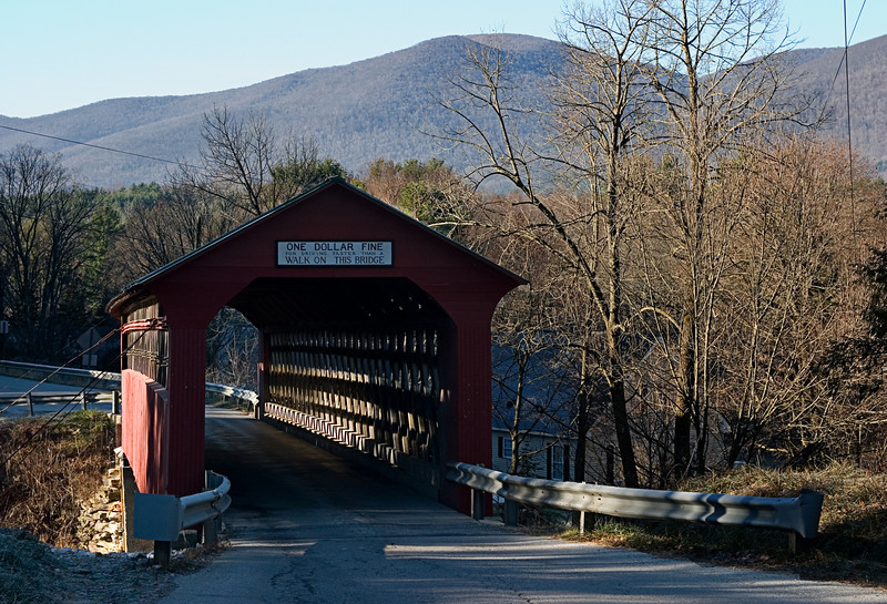 <center>Chiselville Bridge<br><br>Sunderland, Vermont<br><br>The bridge spans he Roaring Branch of the Batten Kill River and is still in use today.</center>