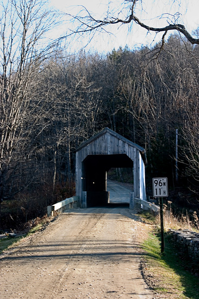 <center>Kidder Hill Bridge<br><br>Grafton, Vermont<br><br>1869 must have been a terrible year in Vermont. This is yet another bridge built in 1870 to replace one washed away in an 1869 flood.</center>
