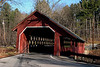 <center>Creamery Bridge<br><br>Brattleboro, Vermont<br><br>This bridge was built in 1879 and is still one of the busiest bridges in use today. It takes its name from the Brattleboro Creamery which used to be next to the bridge.</center>