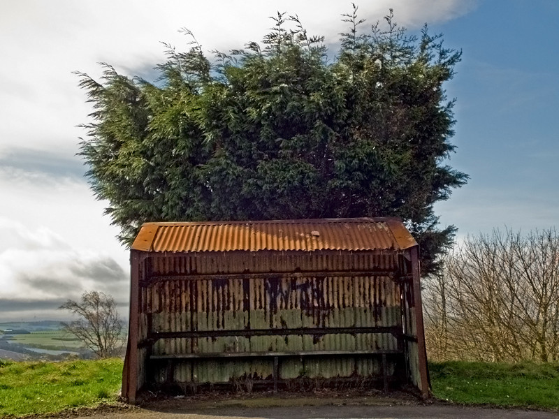 The last corrogated Bus Shelter in Britain, at Annfield Plain