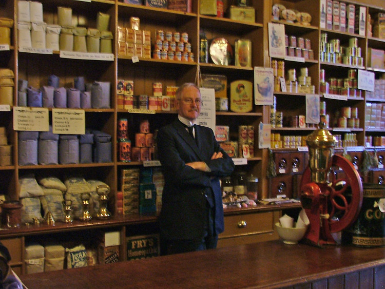 Beamish Museum Co-op Grocery dep't