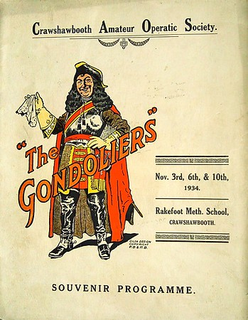 Crawshawbooth Amateur Operatic Society The Gondoliers 1934