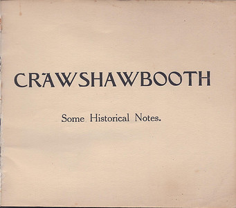 Crawshawbooth Historical Notes Friends Meeting House Renovation Souvenir 1922