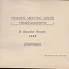 Crawshawbooth Historical Notes Friends Meeting House Renovation Souvenir 1922 2