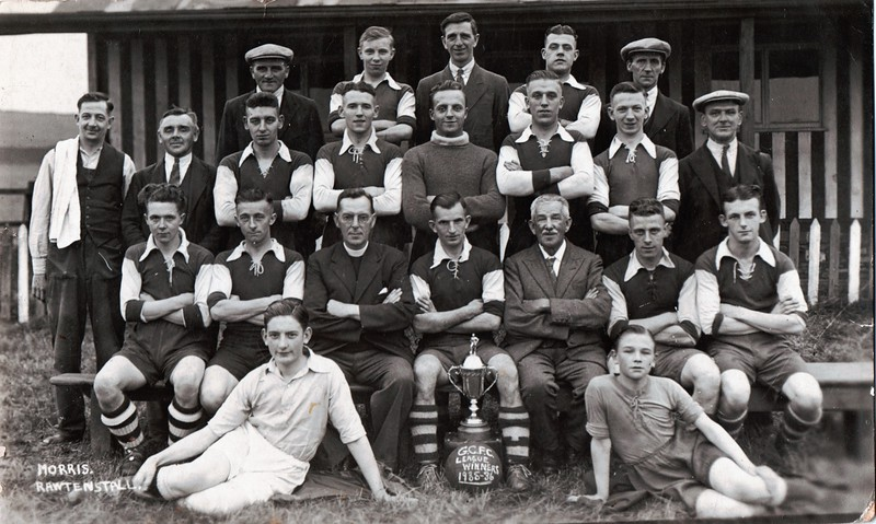 Goodshaw Central FC 1935-6 Walter Heap 2nd from left back row