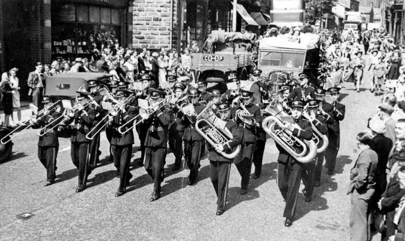 Goodshaw Band Gala 1949 near Black Dof Crawshawbooth