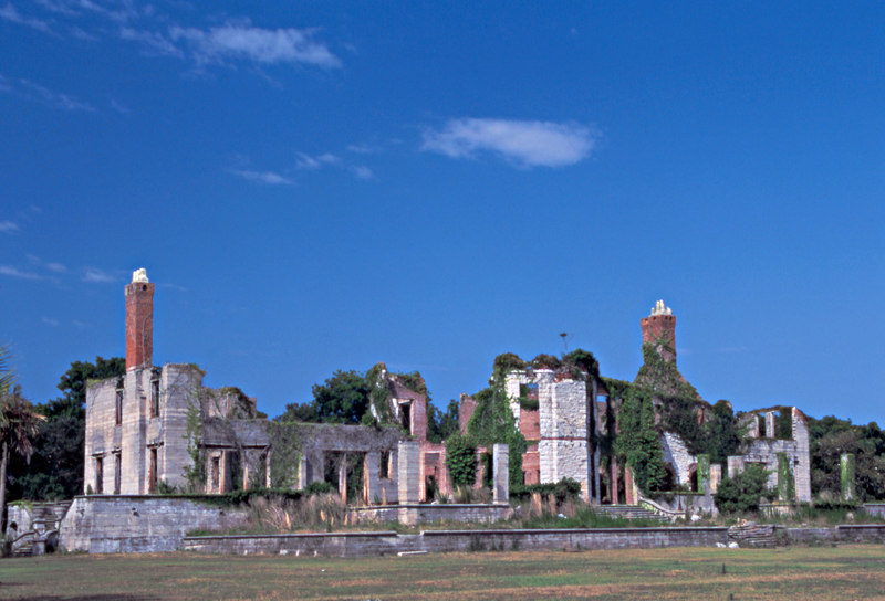 Dungeness Carnegie Mansion Ruin on Cumberland Island, Georgia - Former Greene Property