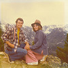 4. The next summer I was hired to work at Crater Lake National Park in Oregon. My best girl, Pam, drove out with me and flew home. (We married in 1977). We stopped at Custer and then, here, on top of the world, at Bear Tooth Pass.