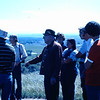 12. This looks like it could be back at the Custer battle site, with Mike giving his perspective. At right in the orange t-shirt is my buddy, Jimmy McCaleb. Jimmy had driven out west with me from Tennessee. He spent a week with me at Custer before I drove him over to Yellowstone to his job at Roosevelt Lodge. From his start as a front desk clerk in that small facility, he has risen to General Manager of Xanterra in Yellowstone, the park's largest concessioner. I'm proud of the boy.
