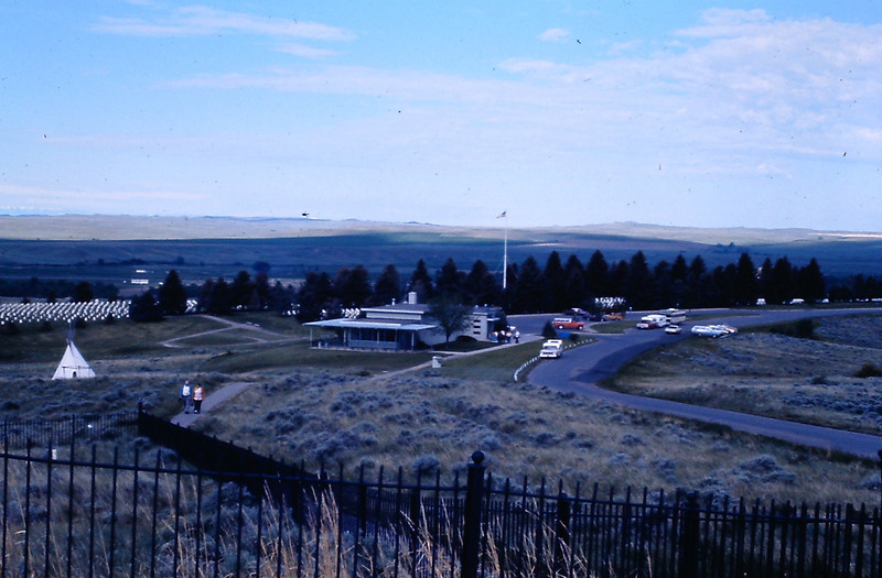 1. A view of the Visitor Center and Museum building, taken from Last Stand Hill.