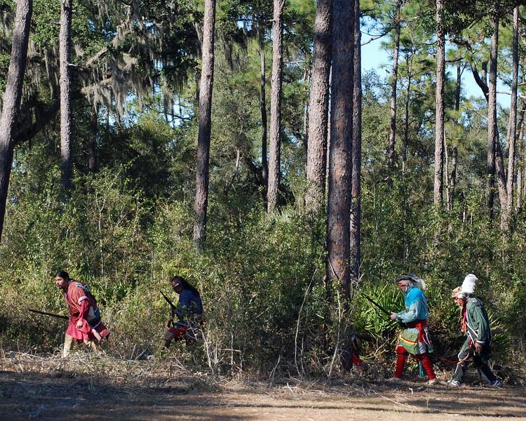 The Seminole warriors prepare the ambush.